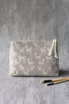 The Animal Pack woven cosmetic bag is perfect for storing makeup, toiletries, accessories, craft supplies and more. Studio Weave, Small Cosmetic Bags, Zipper Pouch, Travel Style, Travel Bags, Craft Supplies, Zip Around Wallet, Packing, Cosmetics