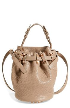 Alexander Wang 'Small Diego - Rose Gold' Leather Bucket Bag available at #Nordstrom