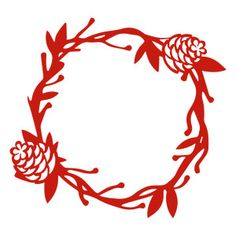 Silhouette Design Store - View Design #164203: pinecone wreath