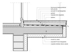 erkély csomópont Architecture Collage, Facade Architecture, Railing Design, Gate Design, Architectural Section, Architectural Elements, Balcony Grill, Roof Insulation, Bridge Construction