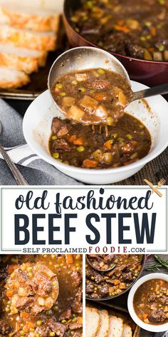 Old Fashioned Beef Stew is a hearty dinner with tender meat and soft potatoes that can be made in the crockpot or on the stove top beefstew crockpot stovetop recipe Beef Stew Stove Top, Oven Beef Stew, Easy Beef Stew, Homemade Beef Stew, Slow Cooker Beef, Best Beef Stew Recipe Stove Top, Hearty Stew Recipe, Best Crockpot Beef Stew, Potatoes Crockpot