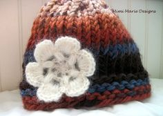 Hand Knit Baby Hat Infant Winter Hat With by mimimariedesigns, $12.00