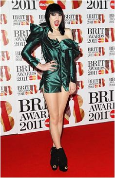 Jessie J and her Metallic Dress