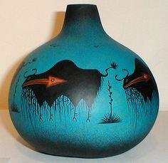 Mimbres Buffalo Gourd Pot by Robert Rivera