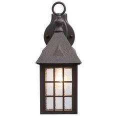 Acclaim Lighting Outer Banks Collection 1-Light Architectural Bronze Outdoor Wall-Mount Fixture 72ABZ at The Home Depot - Mobile
