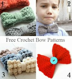 10 + Free Crochet Bow Patterns
