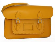 'Paddington' Daffodil Yellow Leather Satchel £70