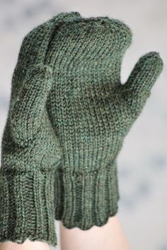 Doug Fir Mittens Balls to the Walls Knits, A collection of free one- and two- skein knitting patterns Pattern attached. Knitted Mittens Pattern, Crochet Mittens, Knitted Gloves, Knit Crochet, Crochet Granny, Easy Knitting, Knitting Patterns Free, Stitch Patterns, Loom Knitting