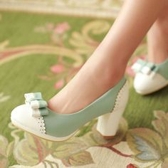 Princess Feminine Sweet Bowknot High Heels Shoes