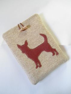 Chihuahua Kindle Fire case /cover in 100%wool by Littlelinsy
