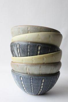 Mayumi Yamashita: faceted mid bowls | Flickr - Photo Sharing!