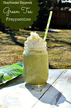 Copycat Starbucks Green Tea Frappuccino Recipe
