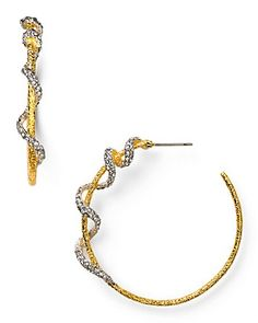 Alexis Bittar Mauritius Twisted Vine Hoop Earrings | Bloomingdale's