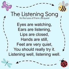 Listening song. #ParentingTeacher