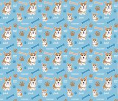 For my sisters corgi quilt!! Corgi Boy fabric by dianef on Spoonflower - custom fabric