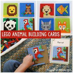 Lego Activities, Craft Activities For Kids, Summer Activities, Kids Crafts, Lego Mosaic, Lego Challenge, Lego Wall, Lego Animals, Lego Club
