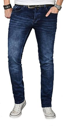 d8391a5db48 A. Salvarini Designer Herren Jeans Hose Regular Slim Fit Jeanshose Basic  Stretch  AS-