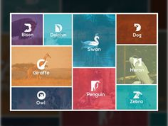 Animal logo with awesomness designed by BdThemes. the global community for designers and creative professionals. Animal Logo, Penguins, Giraffe, Graphics, Logos, Creative, Movie Posters, Animals, Art