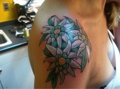 edelweiss tattoo like the flower not the placement