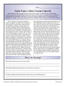 uncle tom s cabin activities essay questions daily lesson ideas uncle tom s cabin