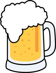Oktoberfest Beer Mug Clip Art Beer Mug Clip Art, Beer Clipart, Beer Glassware, Oktoberfest Beer, Mug Art, Beer Cooler, Diy Tattoo, Tattoo Ideas, Beer Mugs