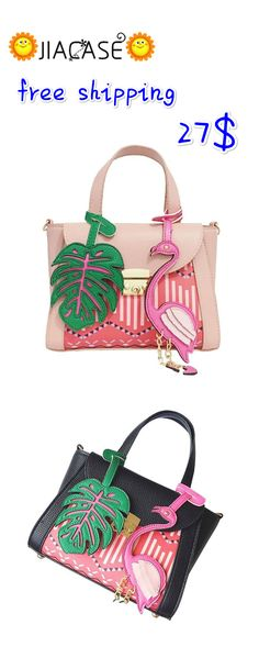 25fcc04e6483 Brand Floral Bird Cartoon Printing Bag Women Shoulder Bags Designer  Handbags Girls Tote Female Leather Messenger Bags