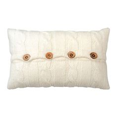 IKEA - KUNGSKALLA, Cushion, The buttons make the cover easy to remove.Soft, resilient polyester filling holds its shape and gives your body soft support.