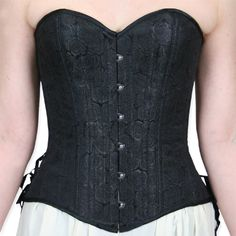 Black Rose Overbust Corset, $169. nifty with a long skirt?