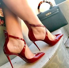 Mode Frauen Peep Toe High Heels Schuhe # Frauen # Räder # Schuhe - Heels,shoes and Boots - Shoe Cute Shoes, Me Too Shoes, Lace Up Heels, Shoes Heels, Heeled Sandals, Red Shoes, Shoes Sneakers, Shoes Style, Heel Boots