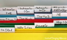 Organizing Paperwork for Dummies from One Good Thing by Jillee - some good ideas here