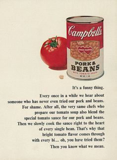 Campbell's Pork & Beans with Tomato Sauce ad, 1967.