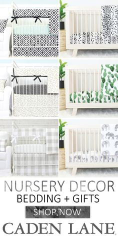 Love the gender neutral look for the nursery with one of these crib sets!