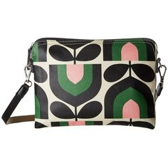 Orla Kiely Matt Laminated Stripe Tulip Print Travel Pouch (Spring)... ($88) ❤ liked on Polyvore featuring bags, zip bag, travel bag, stripe bag, zip pouch bags and pvc bag