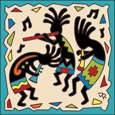 Tile Musical Kokos, DIY and Crafts, Musical Kokos Decorative Art Tile. Southwestern Art, Hand Designs, Tribal Designs, Indigenous Art, Decorative Tile, Tile Art, Native American Art, Indian Art, Nativity