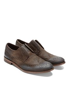 46bd8972d4a2 Laceless Wintips in Vintage Brown Shoe Story