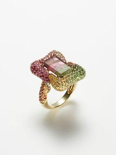 Bi-colour tourmaline ring.  Sigh.