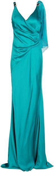 versace Long Dress - Lyst