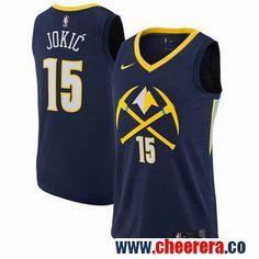 2c5f0f93 Nike Denver Nuggets #15 Nikola Jokic Navy NBA Swingman City Edition Jersey