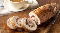 Turkey Breast with Cranberry-Pecan Stuffing