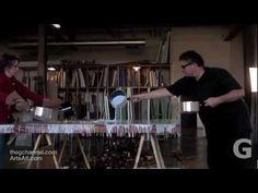 ARTIST MICHAEL DAVID DEMONSTRATES THE ENCAUSTIC PROCESS - YouTube