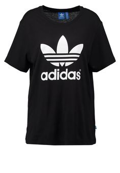 adidas Originals T-Shirt print - black - Zalando.de Jupe Patineuse, Affaires e2922eb33898
