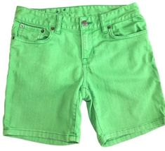 Details about Polo Ralph Lauren Girl Jean Shorts Green Denim Pink Big Pony  Embroidered Size 14