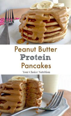 Healthy Breakfast Discover Peanut Butter Protein Pancakes - Your Choice Nutrition These Whole Wheat Peanut Butter Protein Pancakes satisfy your craving for comfort food (in a healthy way!) and keep you feeling full all morning long! Peanut Butter Pancakes, Peanut Butter Protein, Almond Pancakes, Greek Yogurt Pancakes, Breakfast And Brunch, Breakfast Recipes, Breakfast Pancakes, Diet Breakfast, Pancake Proteine