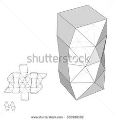 Box with Die Cut Template. Packing box For Food, Gift Or Other Products. On White Background Isolated. Ready For Your Design. Product Packing Vector EPS10