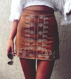 Must-have item to spice up your Wardrobe Collection. featuring A Bohemian Embroidery Skirt to Try Out Now. Shop the Latest Boho Chic Fashion Outfit Inspiration. Shop this look ! Look Boho, Bohemian Style, Boho Chic, Summer Dress, Summer Outfits, Rush Outfits, Spring Dresses, Fashion 2017, Look Fashion