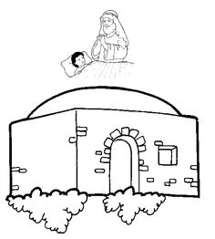 Elisha Heals the Shunamite's Son - MSSS Bible Collages School Ot, Sunday School Kids, Sunday School Activities, Sunday School Crafts, Bible Story Crafts, Bible Stories, Sunday School Coloring Pages, Bible Activities For Kids, Church Banners