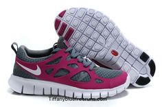 Tumbled Grey Vivid Grape White Nike Free Runs 2 Girls