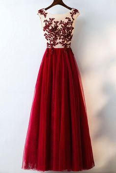 Prom Dress Beautiful, Elegant Burgundy A-Line Lace Tulle Prom Dresses Beautiful Party Dresses, Discover your dream prom dress. Our collection features affordable prom dresses, chiffon prom gowns, sexy formal gowns and more. Find your 2020 prom dress A Line Prom Dresses, Tulle Prom Dress, Cheap Prom Dresses, Lace Dress, Bridesmaid Dresses, Formal Dresses, Tulle Lace, Burgundy Bridesmaid, Lace Bodice
