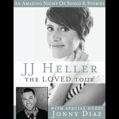 JJ Heller – The Loved Tour with Jonny Diaz! Saturday, November 2 @ 7 PM at Northwest University in the  Butterfield Chapel Tickets are free for NU Community & $5 General Admission. Pick them up in the Student Development office, or by request at:tickets@northwestu.edu. Who's excited?!