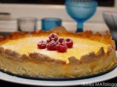Sitronterte med bringebær Pudding Desserts, Lemon Curd, Sweets, Food, Cakes, Decoration, Tips, Food Food, Decor
